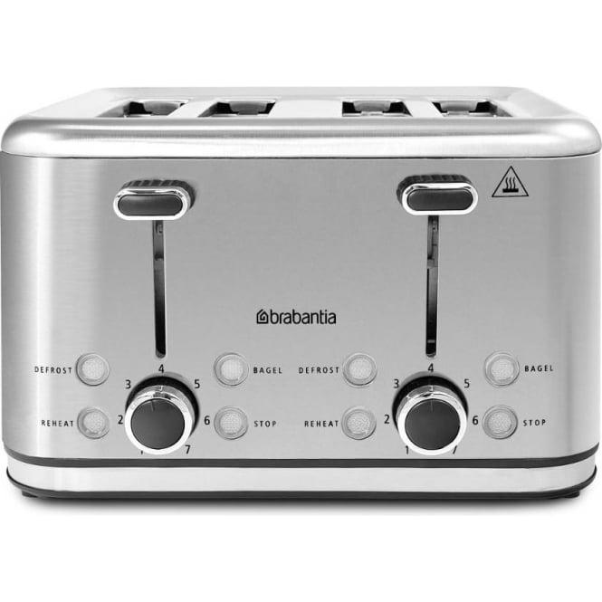 Brabantia 4 Slice Toaster, Stainless Steel