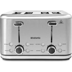 4 Slice Toaster, Stainless Steel