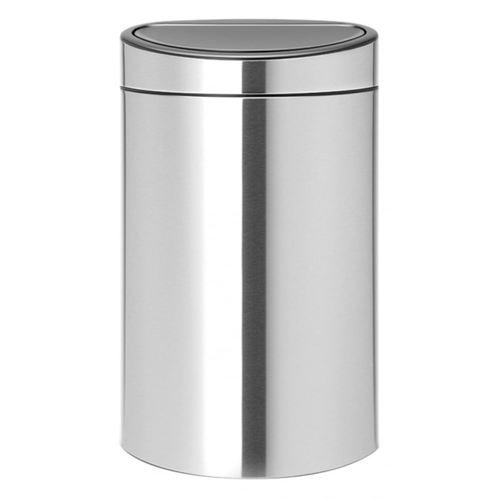 brabantia 40l touch bin fingerprint proof matt steel home appliances from uk. Black Bedroom Furniture Sets. Home Design Ideas