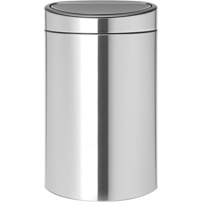 Brabantia 40L Touch Bin, Fingerprint Proof Matt Steel