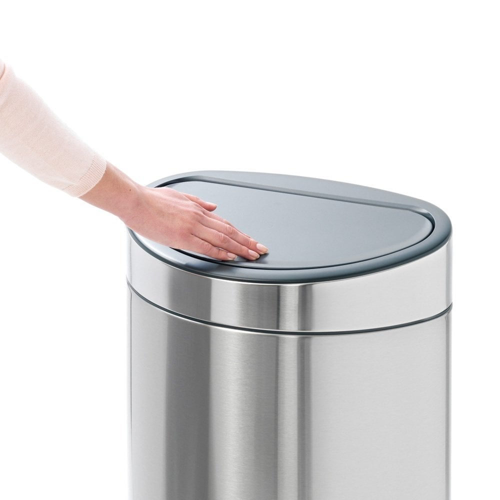 brabantia 40l touch bin fingerprint proof matt steel brabantia from uk. Black Bedroom Furniture Sets. Home Design Ideas