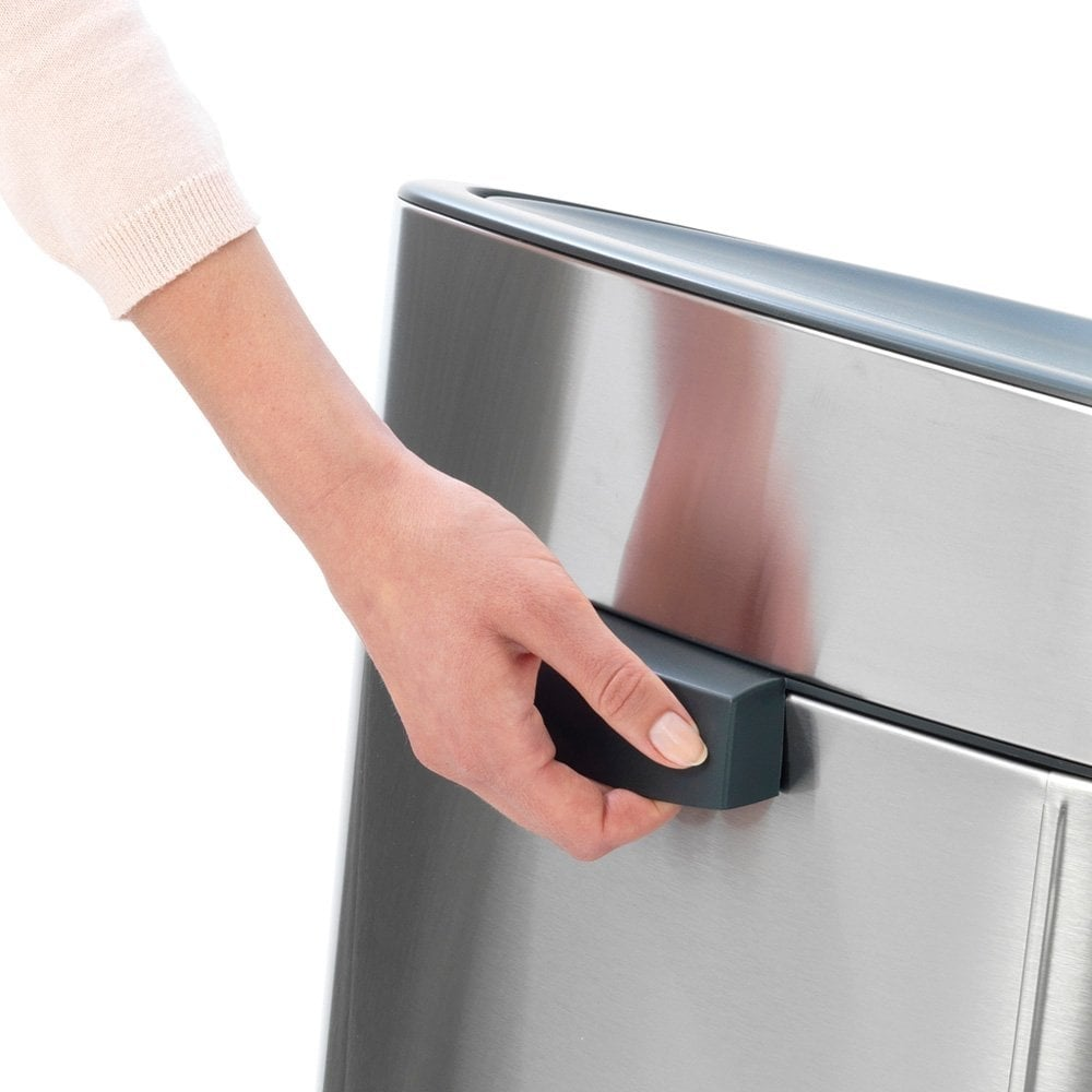 Brabantia Touch Bin 30 Liter Mat.Brabantia 40l Touch Bin Fingerprint Proof Matt Steel