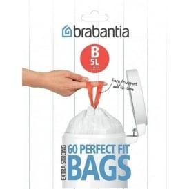 5L (B) Perfect Fit Waste Bags (x60)