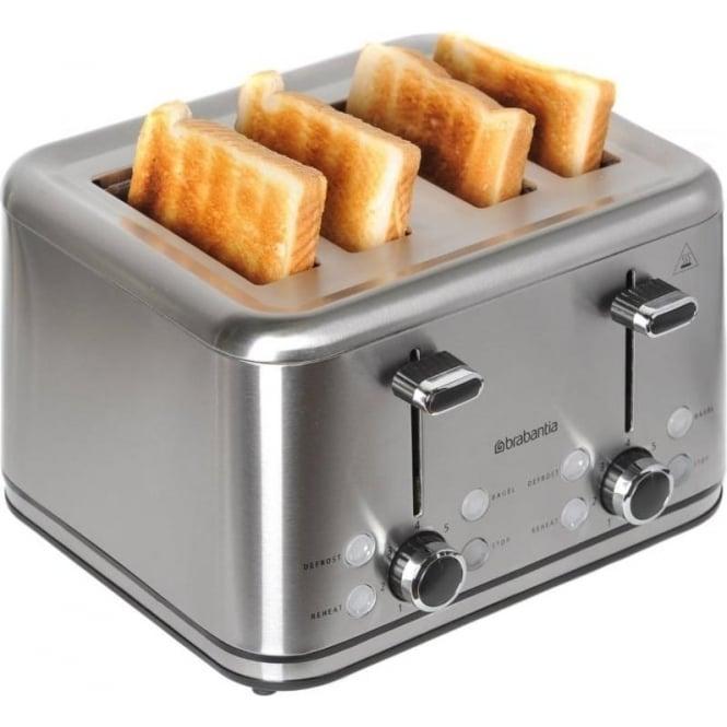 Brabantia BBEK1031 Four Slice Toaster, Stainless Steel