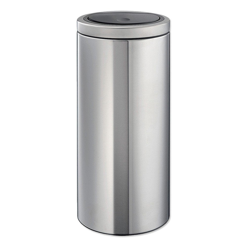 Brabantia Touch Bin Flat Top 30 Liter Wit.Brabantia Bin 30 Litre Touch Lid Matt Steel