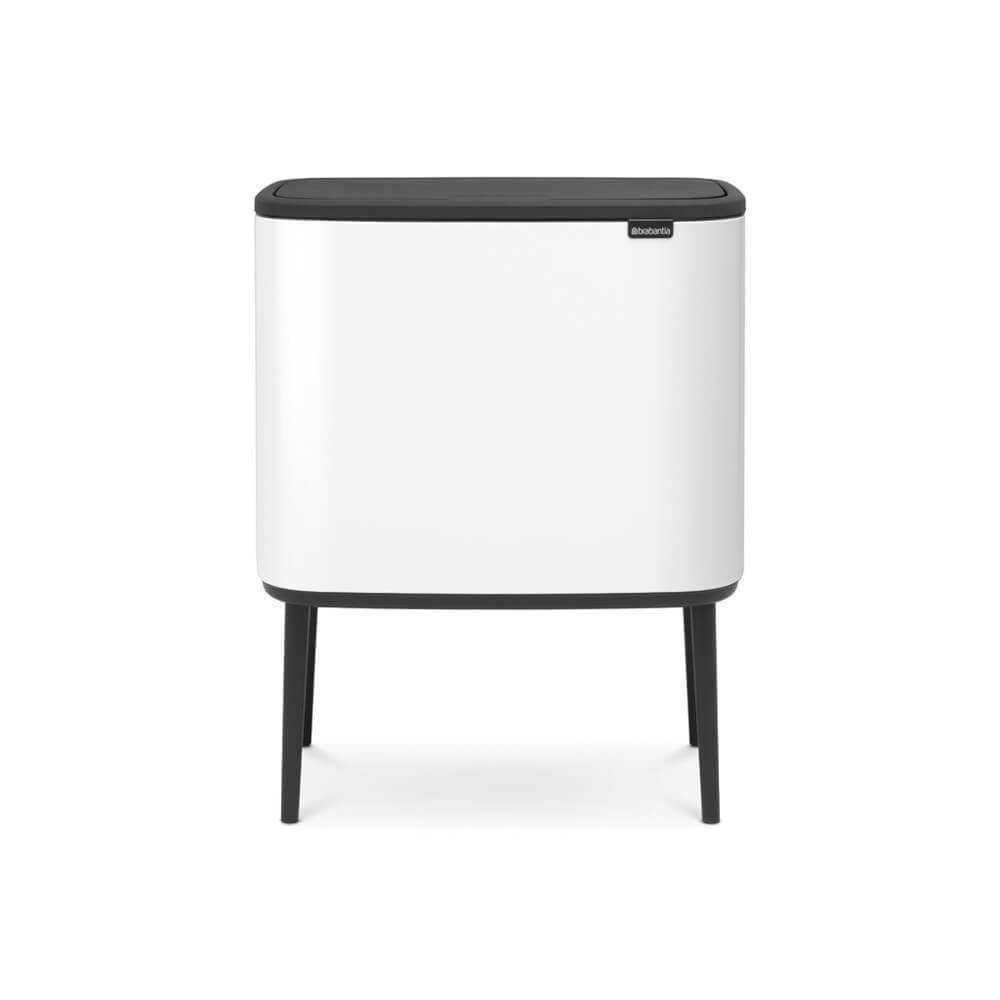 Brabantia Touch Bin 30 L Flat Top.Bo Touch Bin With 2 Inner Buckets 11 23 Litre White