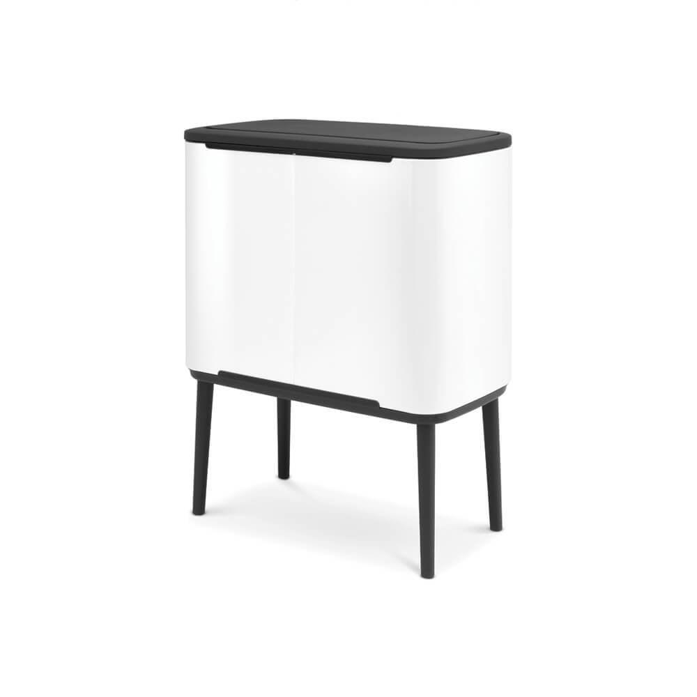 Brabantia Touch Bin 50 Liter Wit.Bo Touch Bin With 2 Inner Buckets 11 23 Litre White