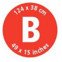 Brabantia Ironing Board B, 124x38cm, Solid Steam Iron Rest, Cotton Flower