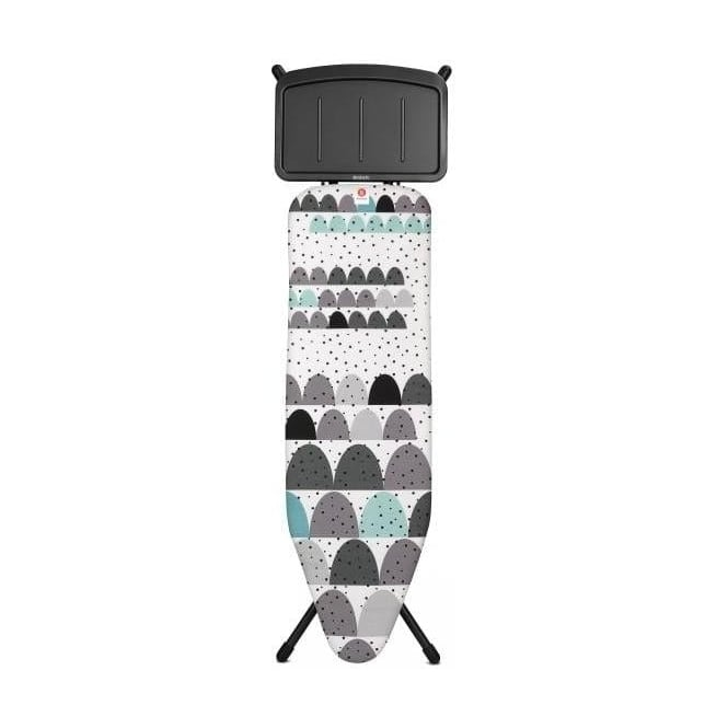 Brabantia Ironing Board B, 124x38cm, Solid Steam Unit Holder, Dune