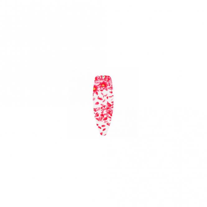 Brabantia Ironing Board Cover D, 135x45cm, 4mm Foam, 4mm Felt, Pink Santini