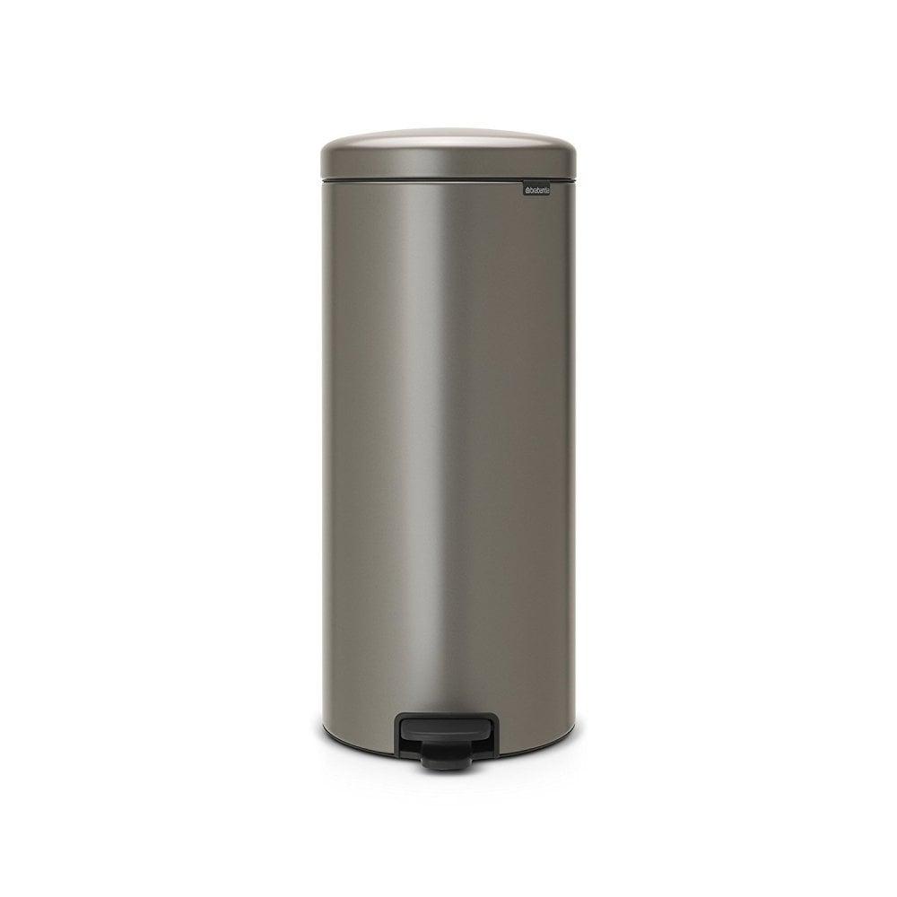 Brabantia Touch Bin 30 L Flat Top.Pedal Bin Newicon With Plastic Inner Bucket 30 Litre Platinum