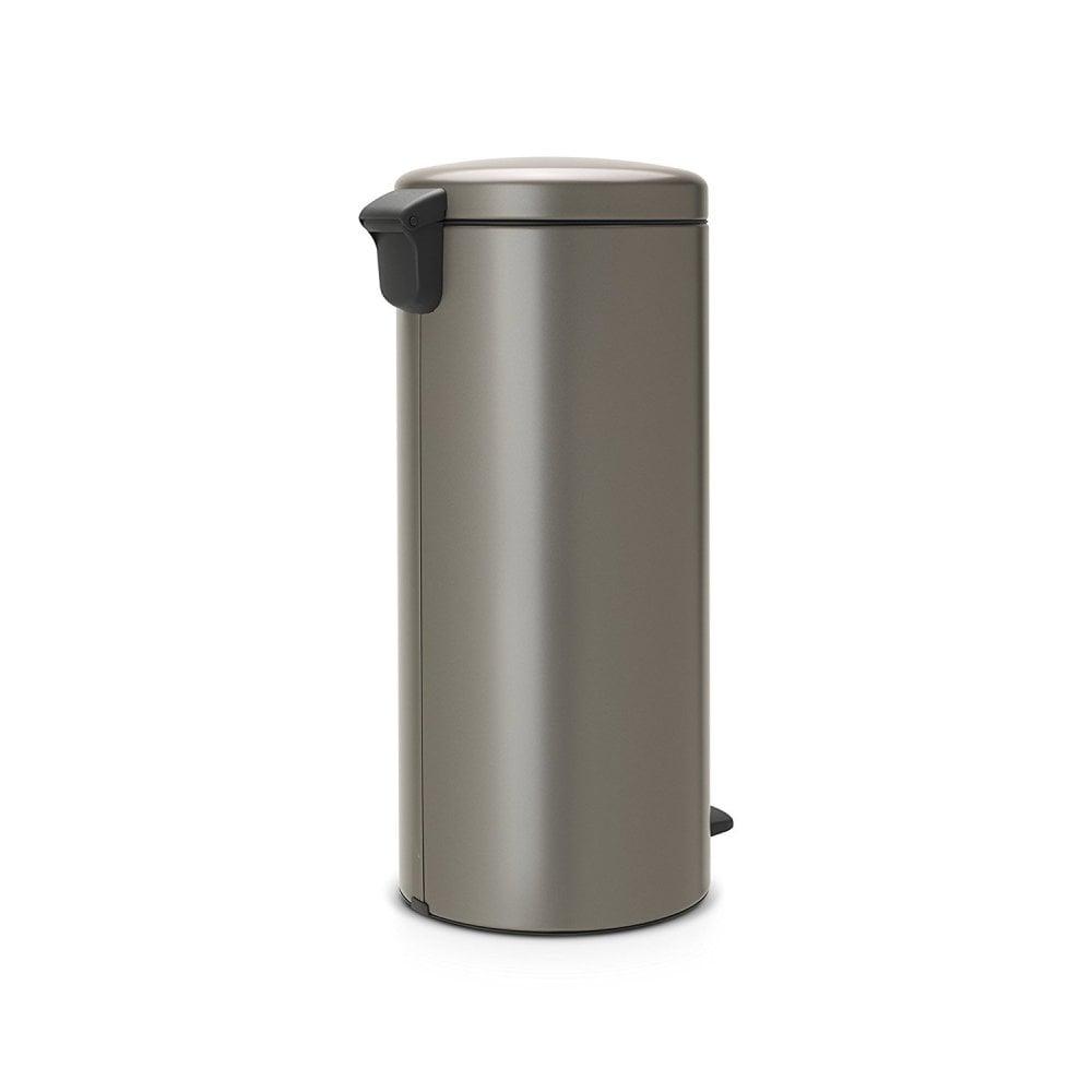 Pedal Bin Newicon With Plastic Inner Bucket 30 Litre Platinum