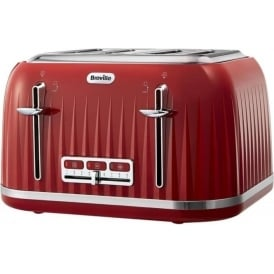 Impressions 4 Slice Toaster, Red