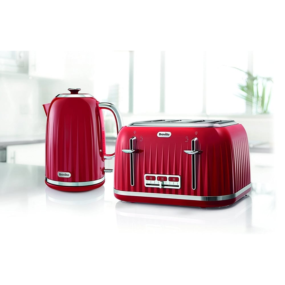 breville impressions 4 slice toaster red breville from uk. Black Bedroom Furniture Sets. Home Design Ideas