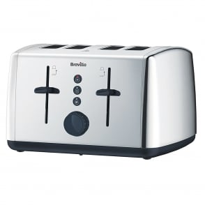 VTT549 Vista 4 Slice Polished Stainless Steel Toaster, Silver
