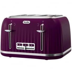 VTT634 Impressions 4 Slice Toaster, Plum