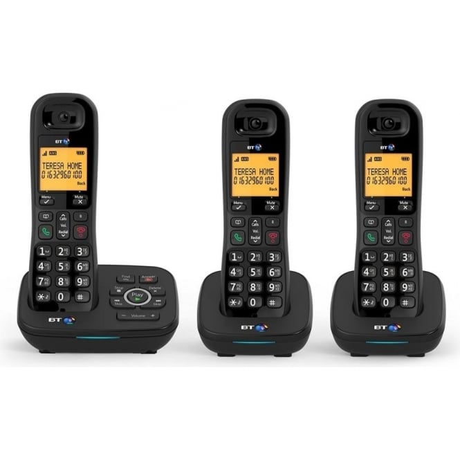 BT 1700 Nuisance Call Blocker Cordless Home Phone with Digital Answer Machine Trio Handset Pack