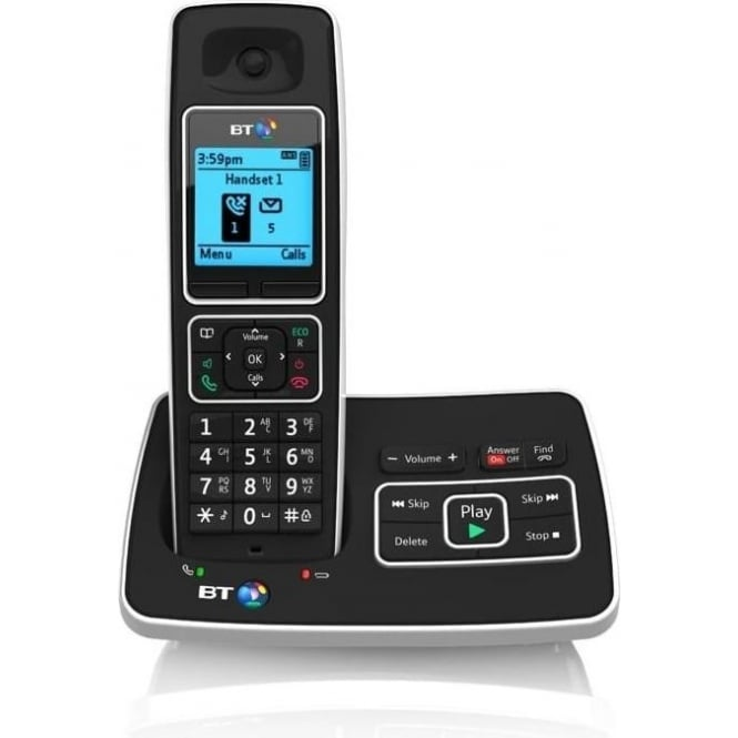BT 6500 Single Cordless House Phone with Answer Machine