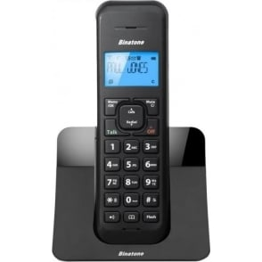 Single DECT Digital Cordless Telephone with Answer Machine, Black