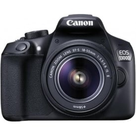 EOS 1300D DSLR Camera with EF-S18-55 IS II F3.5-5.6 Lens