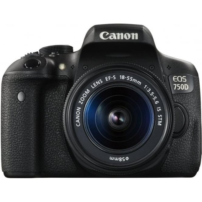Canon EOS 750D DSLR Camera (24.2 MP, 18 - 55 mm Lens, CMOS Sensor)