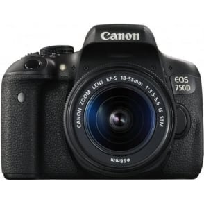 EOS 750D DSLR Camera (24.2 MP, 18 - 55 mm Lens, CMOS Sensor)