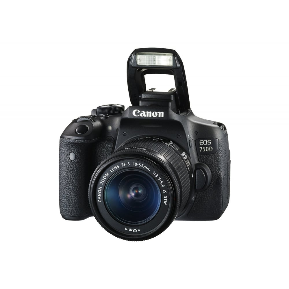 canon eos 750d dslr camera 24 2 mp 18 55 mm lens cmos. Black Bedroom Furniture Sets. Home Design Ideas