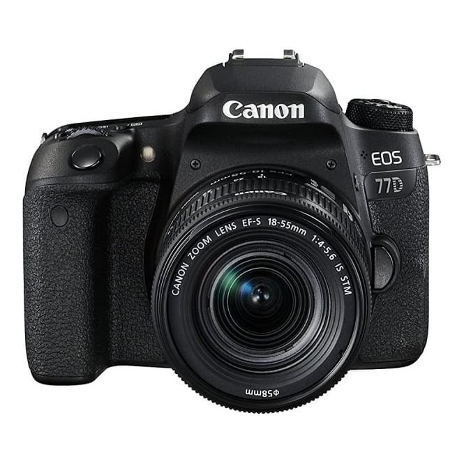 Canon EOS 77D DSLR Camera & EF-S 18-55 mm f/4-5.6 IS STM
