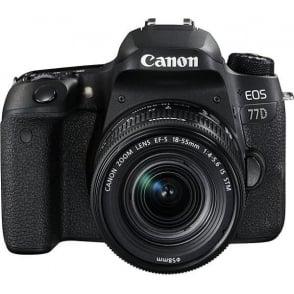 EOS 77D DSLR Camera & EF-S 18-55 mm f/4-5.6 IS STM