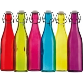 Coloured 500ml Glass Bottle, Assorted Colours