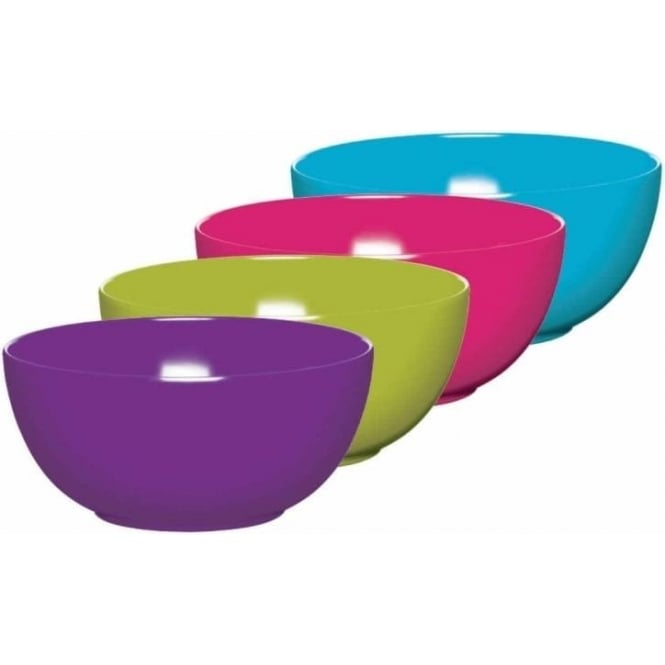 Colourworks Melamine Bowls, Pack of 4