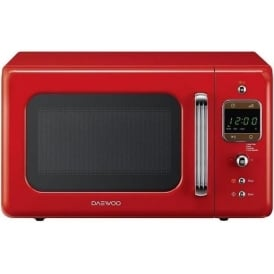 800W Retro Microwave, 20L, Red