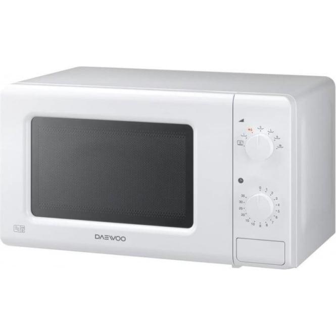 Daewoo KOR6M17 20L 700W Manual Microwave, White