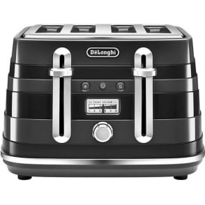Avvolta 4 Slice Toaster, Black