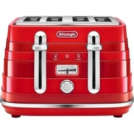Avvolta 4 Slice Toaster, Red