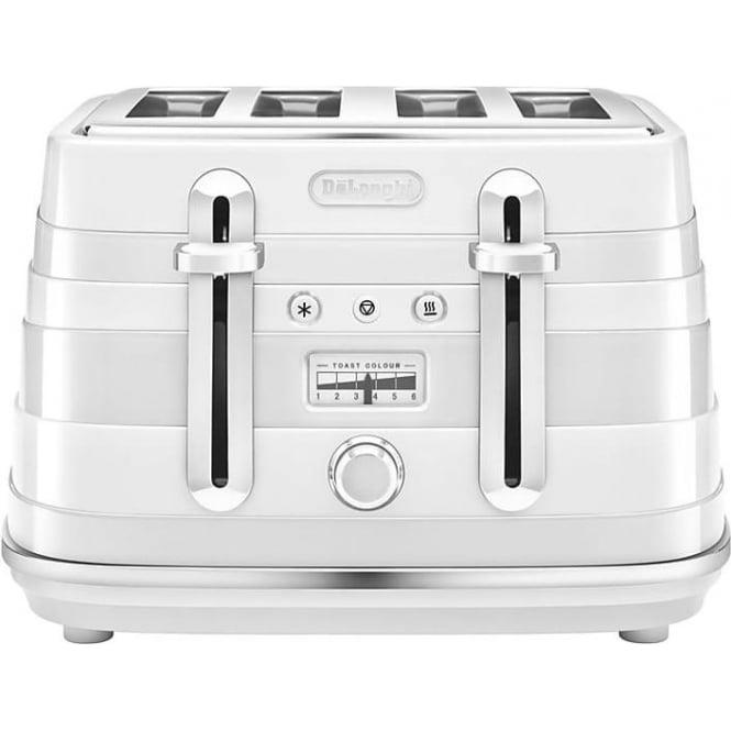 De'Longhi Avvolta 4 Slice Toaster, White