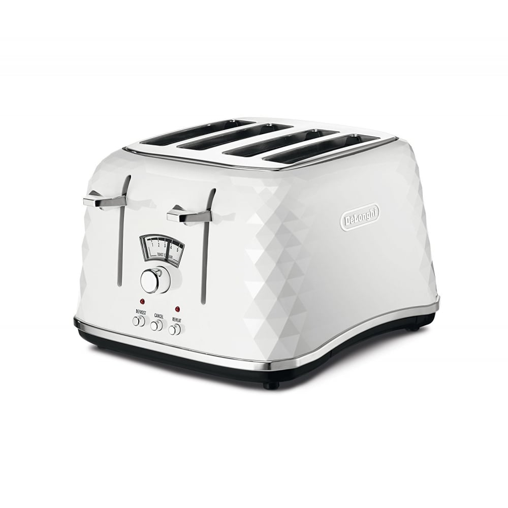 de 39 longhi brillante 4 slice toaster white home appliances from uk. Black Bedroom Furniture Sets. Home Design Ideas