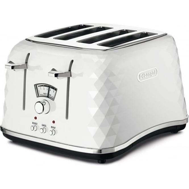 De'Longhi Brillante 4 Slice Toaster, White
