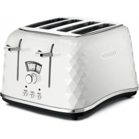 Brillante 4 Slice Toaster, White