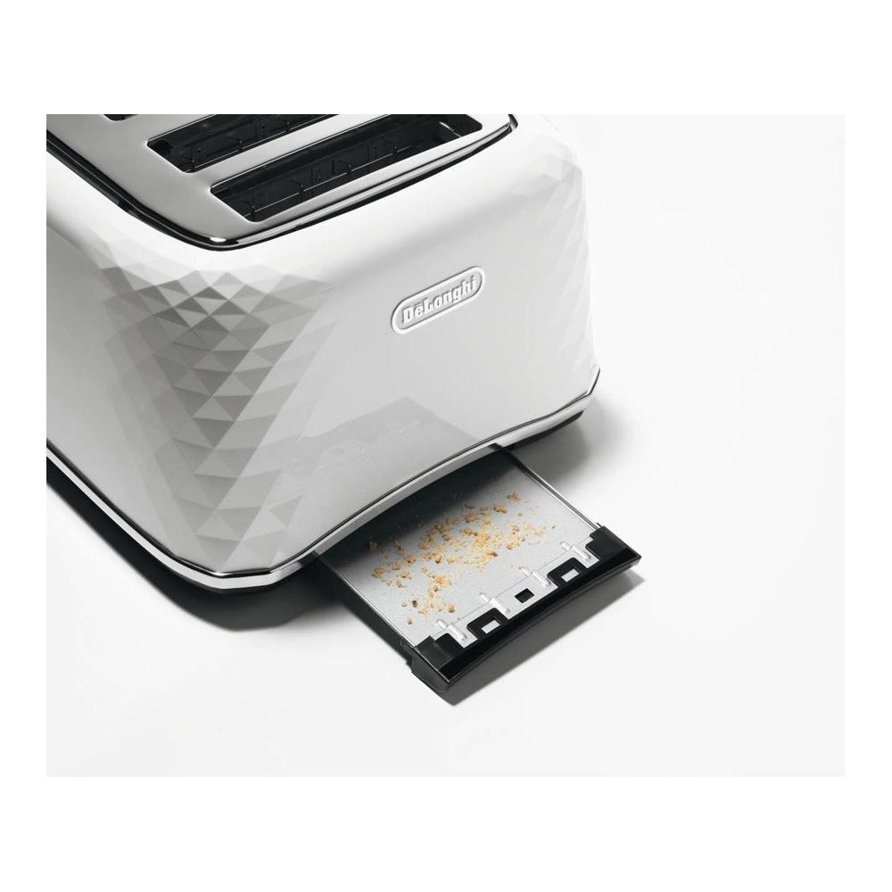 DeLonghi CTJ 4003W Brillante 4 Slice Toaster