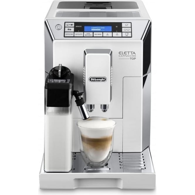 De'Longhi ECAM45.760W Eletta Cappuccino Top Bean to Cup Coffee Machine, White