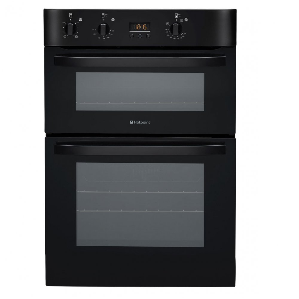 Buy Hotpoint Dh53ck Electric Built In Double Oven In Black