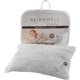 16080 Relaxwell Heated Comfy Cushion, White Fur