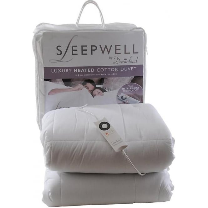 Dreamland 6981 Luxury 100% Cotton Heated Single Duvet