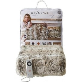 Deluxe Heated Faux Fur Throw