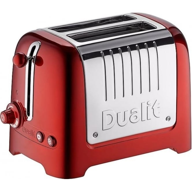 Dualit Lite 2 Slice Toaster, Metallic Red