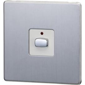 MIHO026 Mi|Home One Gang Brushed Light Switch, Steel