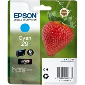 Genuine Cyan 29 Ink Cartridge - C13T29824010