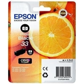 XP530/630/635/830 33 Claria Oranges Premium Photo Ink Cartridge, Black