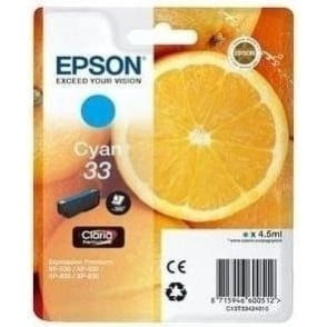 XP530/630/635/830 33 Claria Oranges Premium Photo Ink Cartridge, Cyan
